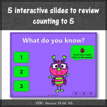 Number Sense to 5 Interactive Math Game {Love Bug} FREEBIE