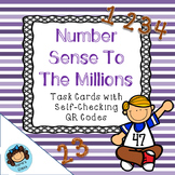Number Sense to a Million Task Cards- with self-checking QR codes