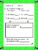 Number Sense - using Today's Number plus more!