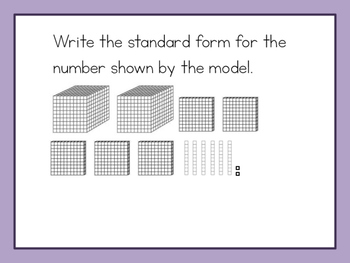 Number Sense with 4 Digit Numbers - Grade 2 enVisions Unit 14 Review