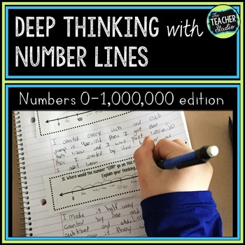 Number Sense with Number Lines!   Place Value Understanding to 1,000,000