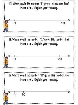 Number Sense with Number Lines!  Place Value Understanding to 120