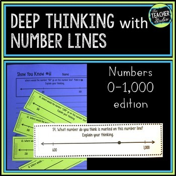Number Sense with Number Lines!  Teaching/Assessing Place