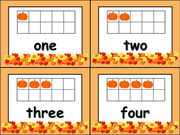 Number Sense with Ten Frames -Fall Edition