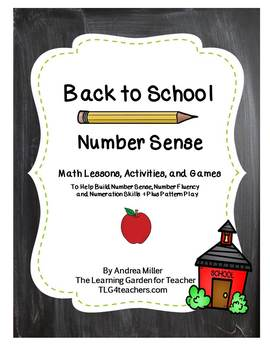 Number Sense with a Back to School Theme