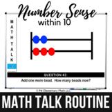 Math Warm Ups | Number Sense within 10 Math Talk Routine |