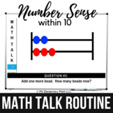 Math Warm Ups   Number Sense within 10 Math Talk Routine  