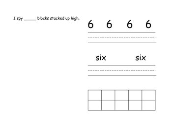 Number Sense/Writing Book - Counting Book