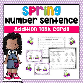 Number Sentence- Addition Task Cards