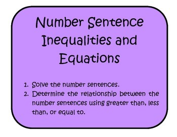 Number Sentence Inequalities