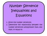 Number Sentence Inequalities