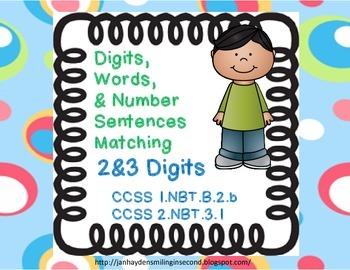 Number Sentence Match-Up