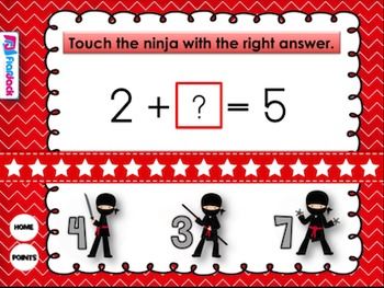 Number Sentence Ninjas Smart Board Game