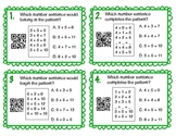 Number Sentence Pattern Task Cards with QR Codes