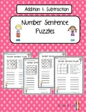 Number Sentence Boggle Puzzles