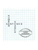 Number Sentence Search: Doubles