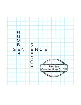 Number Sentence Search: Plus 10 (up to 20)