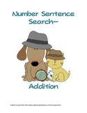 Number Sentence Search (Seek & Find Addition Sentences)