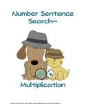 Number Sentence Search (Seek & Find Multiplication Sentences)