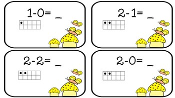 Number Sentence Task Cards (Differences to Ten)