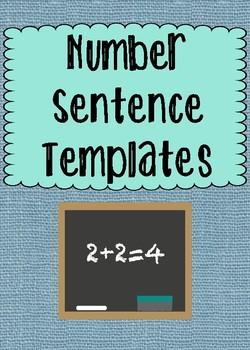 Number Sentence Templates