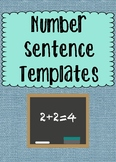Number Sentence Templates