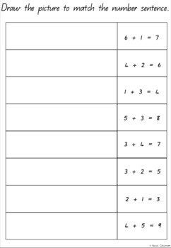 Number Sentence and Picture Match