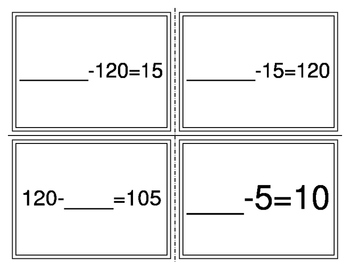 Number Sentence to Story Match Cards
