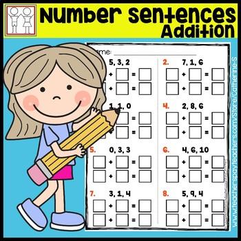 Number Sentences Addition