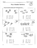 Number Sentences Choose Add or Subtract to Match Picture TEST PREP