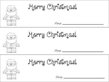 Number Sentences - Christmas theme