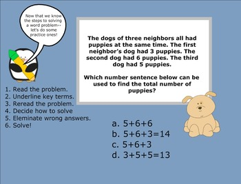 Number Sentences & Number Expressions (Practice with word problems)