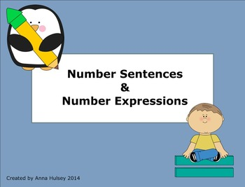 Number Sentences & Number Expressions (Practice with word