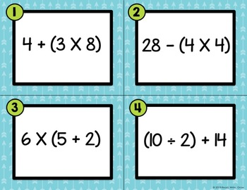 Number Sentences With Parentheses {Two-Step Problems}