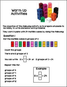 Number Sentences Write and Solve Activity