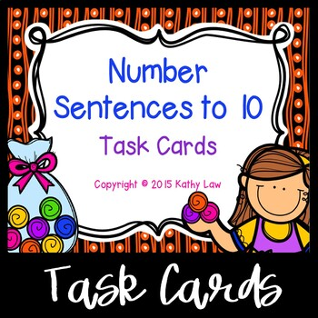 Number Sentences to 10 Task Cards