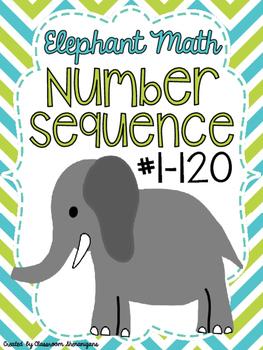 Elephant Math Number Sequence 1-120 (PreK / TK-1st Grade) Common Core Math