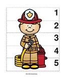 Number Sequence 1-5 Preschool Picture Puzzle - Firefighter