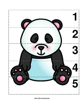 Number Sequence 1-5 Preschool Picture Puzzle - Giant Panda