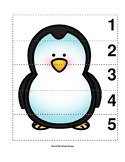 Number Sequence 1-5 Preschool Picture Puzzle - Penguin