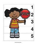 Number Sequence 1-5 Preschool Picture Puzzle - School Cros