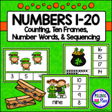Numbers 1-20 Clip Cards: St. Patrick's Day (80 cards)