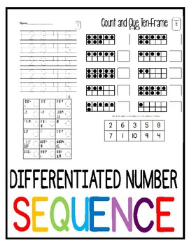 Number Sequence Differentiation
