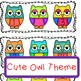 Number Sequence Game 1-20 Owl Theme