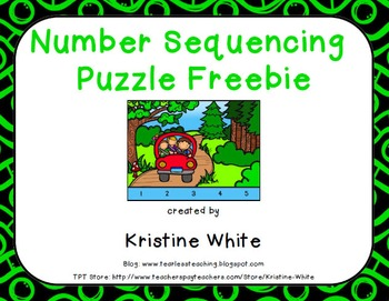 Number Sequence Puzzle FREEBIE