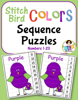 Number Sequence ● Number Puzzles ● Numbers 1-20 ● Math Centers ● Colors