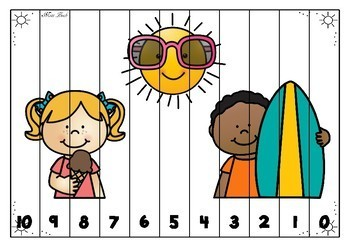 Number Sequence Puzzles- Summer Theme