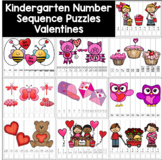 Number Sequence Puzzles - Valentines - Kindergarten Math