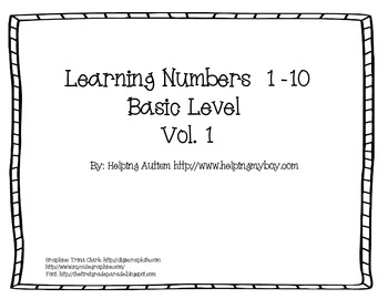Number Sequence Vol 1 for Special Needs/Autism