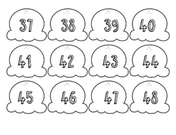 Number Sequence and Patterns Ice Cream Cone Activity
